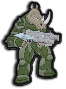 Тактический патч. Носорог. ПВХ шеврон. Нашивка на липучке