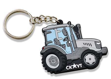ПВХ брелок трактор. Брелки на заказ